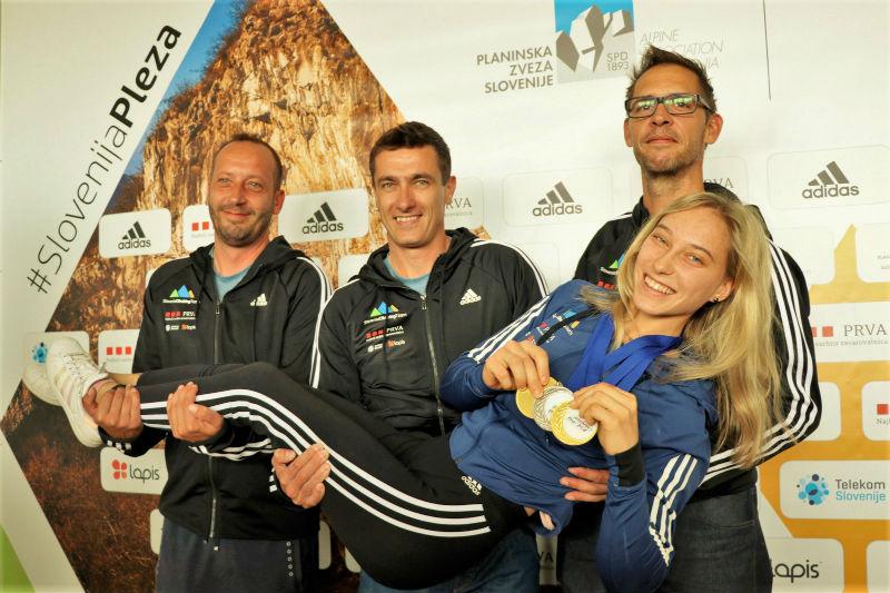 Trikratna svetovna prvakinja Janja Garnbret