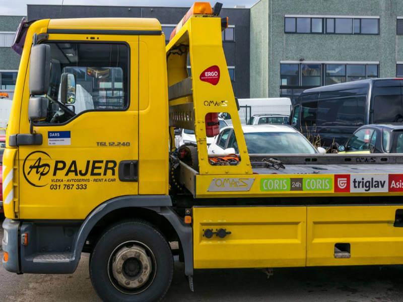 Avtovleka Pajer d.o.o. vas ne pusti na cesti