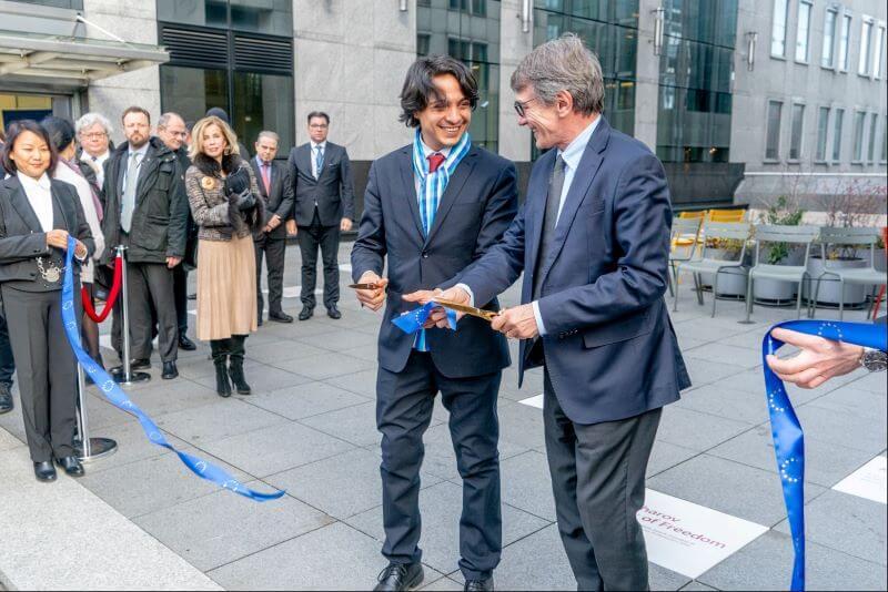 Nova aleja slavnih borcev za svobodo misli pred Parlamentom EU