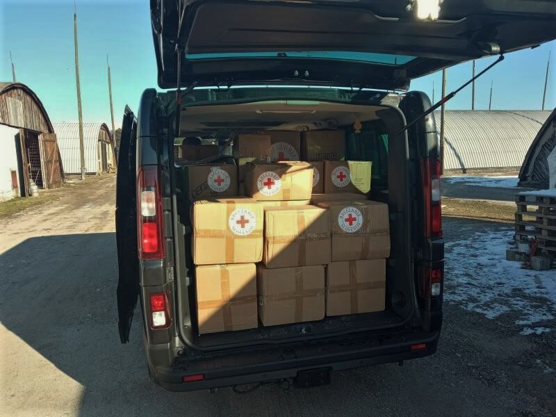Rdeči križ in Ministrstvo za obrambo sta poslala pomoč v Republiko Srbsko