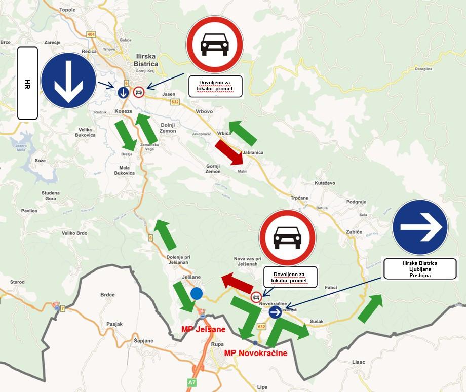 Nova prometna ureditev do mejnega prehoda Novokračine